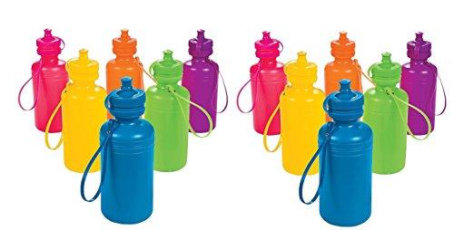 Oriental Trading Inc. Neon Sport Water Bottles (2 dozen) - Bulk [Toy] by Oriental Trading Inc.