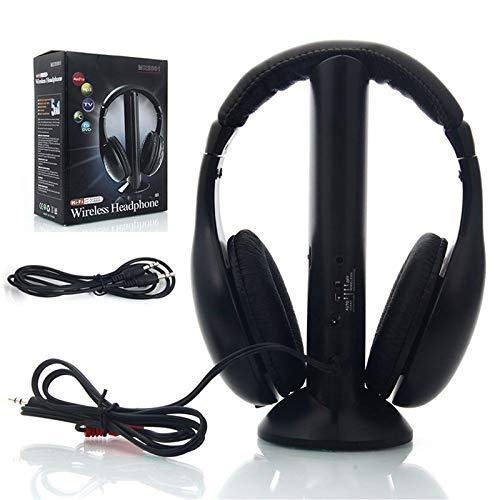 LanLan Auriculares inalámbricos RF Mic para PC TV DVD CD MP3 MP4, Cojunto de Auriculares: Amazon.es: Hogar