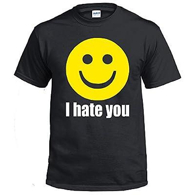 Fresh Tees I Hate You Smiley Face Emoj shirti Funny shirt Humor T-shirt