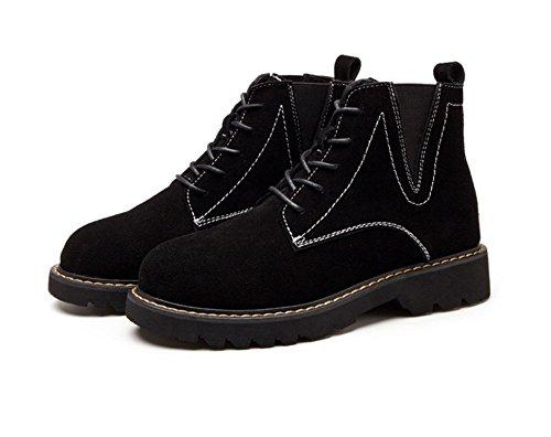 e black inverno moda neve piana desert Stivali in autunno smerigliati stivali retrò esterna alla Martin in da stivali Stivali UXTqSvwt