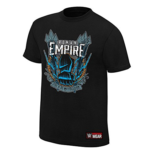 WWE Roman Reigns Spare No One, Spear Everyone Authentic T-Shirt Black 3XL (Authentic Black 100 T-shirt)