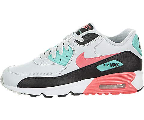 Nike Air Max 90 Leather (Kids) (Nike Air Max 90 Black And White Suede)
