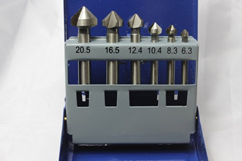 90 Degree Countersink Cove Bits Set High-speed Steel Step...