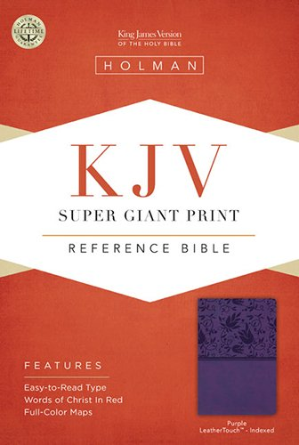 Download KJV Super Giant Print Reference Bible, Purple LeatherTouch Indexed pdf epub