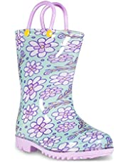 Lilly of New York Children's Rain Boots for Little Kids & Toddlers, Boys & Girls Purple Size: 13 Little Kid