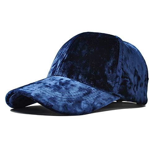 Moktasp Burgundy Velour Baseball Cap for Women Designer Adjustable Baseball Hat Korean Casual Hat and Cap -