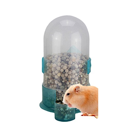 Wildgirl Hamster Bird Small Animal Feeding Drinking Bowl Water Food Dispenser with Holder (L)