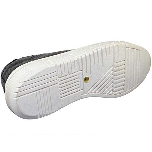 Nero In Vera Italy Giovanile Doppio Fondo Moda Made Pelle Army Uomo Bassa Sneakers Microforata fRxqwZEv