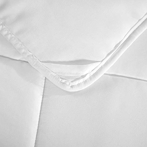HOMFY Premium Cotton Comforter Queen,Quilted Comforter with Corner Tabs, Soft and Breathable (White, Queen) by HOMFY (Image #3)