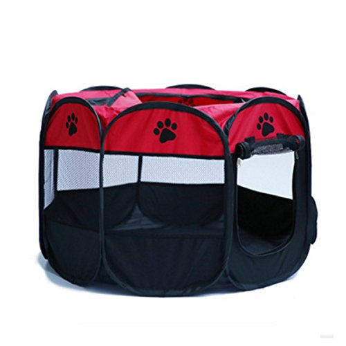 MESASA Portable Foldable Pet Playpen, Indoor/Outdoor, Dog/Cat/Puppy Exercise pen Kennel, Removable Mesh Shade Cover, dog pop up silhouettes pet pen (L, #4) by MESASA (Image #4)'