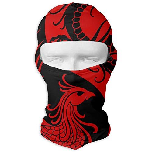 Red Phoenix Dragon Windproof Dustproof Face Mask Balaclava UV Prevention Hood Hat