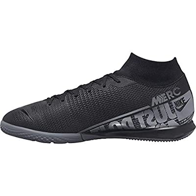 Mercurial Superfly 7 Academy IC Indoor Soccer Shoes- Black/Grey (7.5)