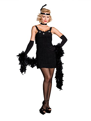 Womens All That Jazz Flapper Costumes (Dreamgirl All That Jazz Flapper Dress, Black, Medium)
