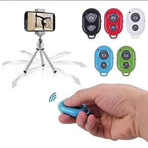 Jia Bluetooth Remote Control Self Timer Camera Shutter for iPhone/iPad and Android Phone(Assorted Color) , Black