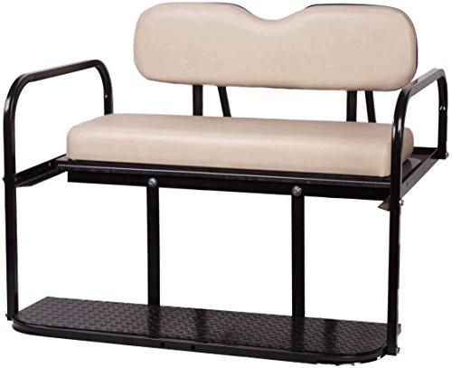 Club Car DS Golf Cart Rear Flip Back Seat Kit (Buff) (Club Car Back Seat Flip Up)
