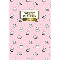 Weekly Planner 2019: Pretty Pink Panda Bonanza Personal Daily, Weekly and Monthly Pocket Size 2019 Planner and Organizer. Cute Small Inspirational Yearly Calendar, Journal and Agenda.