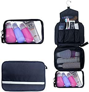 Amazon Giveaway  Toiletry Bag,Hanging Toiletry Bag With Detachable TSA  Approved Portable Clear PVC Pouch Waterproof Multifunction Travel Toiletry  Bag for ... 1f0b364591