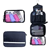 Toiletry Bag,Hanging Toiletry Bag With Detachable TSA Approved Portable Clear PVC Pouch Waterproof Multifunction Travel Toiletry Bag for Men & Women(Black)