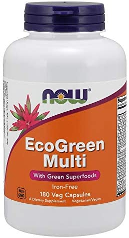 NOW Foods EcoGreen Multi Vitamin 180 Veg Capsules