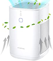 PUURVSAS Air Purifier with 3-stage Filtration System, H13 HEPA Air Cleaner to Remove 99.97% Smoke, Pet Dander,