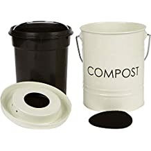The Relaxed Gardener Kitchen Compost Bin (0.8 Gallon) - Rust Proof and Leak Proof - Built Tough to Last a Lifetime