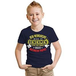 """Kinder T-Shirt """"Ich komme nach Meinen Papa"""" Größe 86 bis 164"""