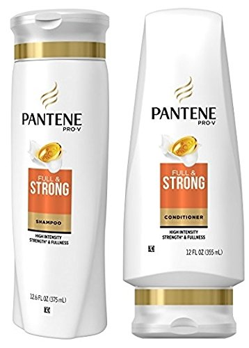 Pantene Pro-V Full & Strong Shampoo and Conditioner Set, 12.6 Fl Oz and 12 Fl Oz (Set Contains 2 items)