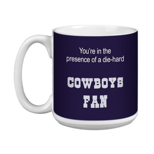 Tree-Free Greetings XM28115 Cowboys Football Fan Artful Jumbo Mug, 20-Ounce -