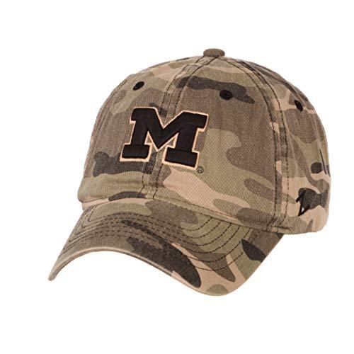 University of Michigan UM Wolverines Camo Top Hunting Washed Unstructured Maverick Adult Mens/Boys Adjustable Baseball -