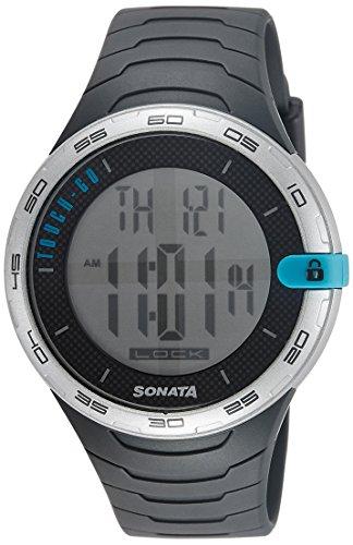 Sonata Digital Grey Dial Men's Watch - 77041PP01J (B01A6X24LS) Amazon Price History, Amazon Price Tracker