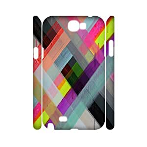 Colorful Stripes Design Customized 3D Cover Case for Samsung Galaxy Note 2 N7100,custom phone case ygtg603222