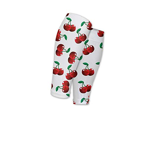 Scsdw Wdrt Sport Compression Calf Sleeve Fruit Cherry Adjustable Shin Splint Guards Leg Compression Socks Running for Men Women