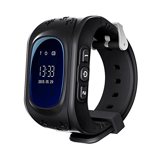 Q50 Oled Screen GPS LBS Tracker Watch Anti-Lost SOS Support SIM Card Dial Call Baby Smart Watch For Children Watch Phone, A