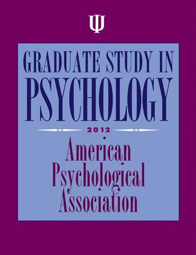 Graduate Study in Psychology, 2012