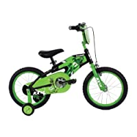 Bicicleta para niños Kawasaki Monocoque, ruedas de 16 pulgadas, cuadro de 11 pulgadas, bicicleta para niños, negro /verde