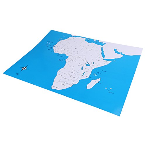 Dovewill Montessori African Country Control Map for Kids Preschool Training Learning
