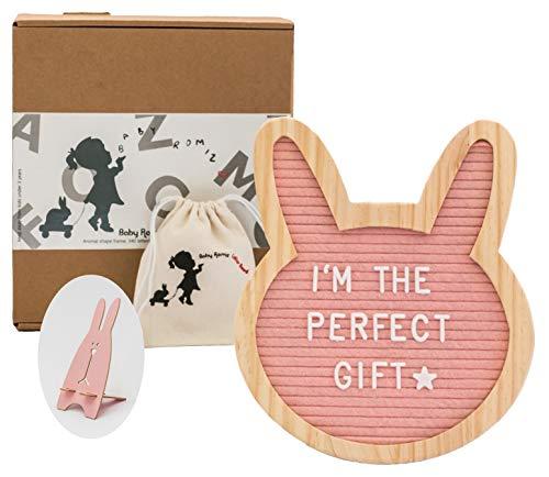 Felt Letter Board- Pink Bunny 10