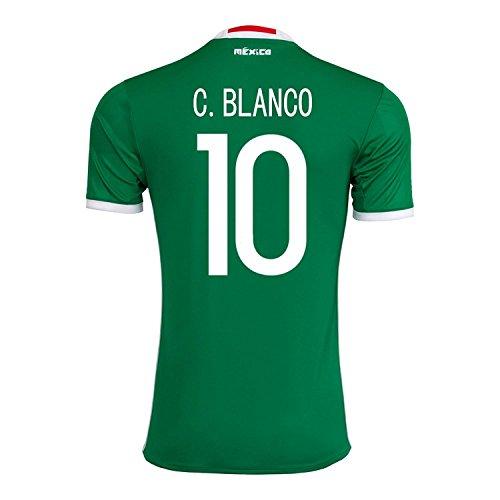 湿原かんがい絶滅させるadidas C. Blanco #10 Mexico Home Jersey Copa America Centenario 2016 - YOUTH/サッカーユニフォーム メキシコ ホーム用 ジュニア向け