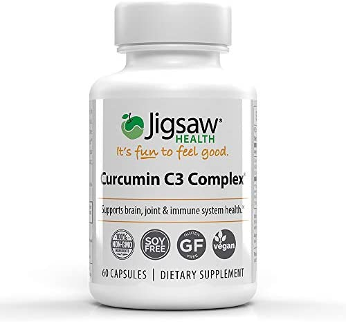 Jigsaw Health Curcumin C3 Complex, Curcumin Extract for Antioxidant Support – 60 Count