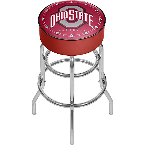 NCAA Ohio State University Padded Swivel Bar Stool