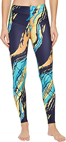 CW-X Women's Stabilyx Print Tights Blue/Yellow Wave X-Small by CW-X