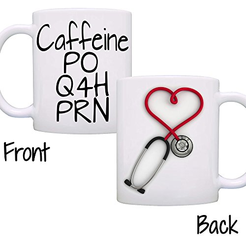 Funny Nurse Stethoscope Coffee Mug, The Perfect Cool, Unique Gift! Printed on Both Sides!