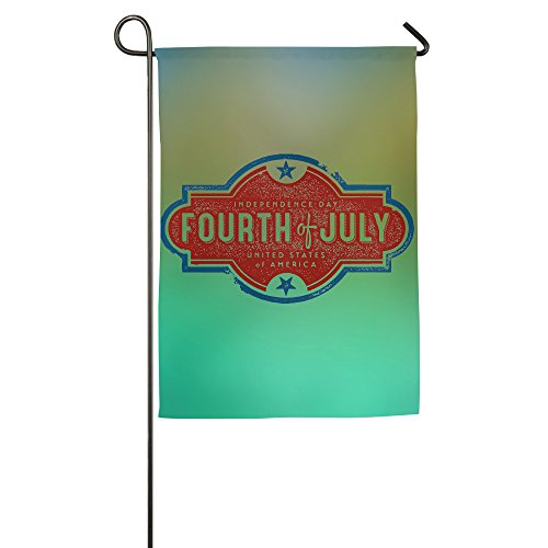 Fourth July 4th Horizontal Design Colorful Family Party Yard