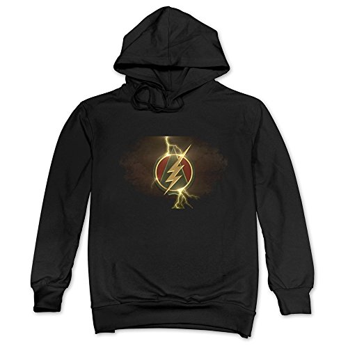 JUST Men's The Flash Ligthing Arrow Logo Hoodie Black - Barry Pillowcase