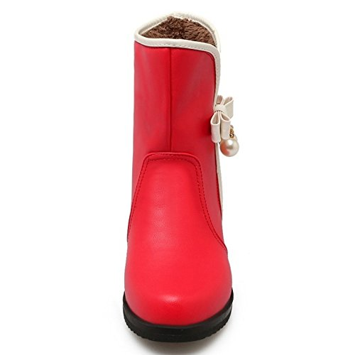 Women Pull On Boots COOLCEPT Red OqCdYw