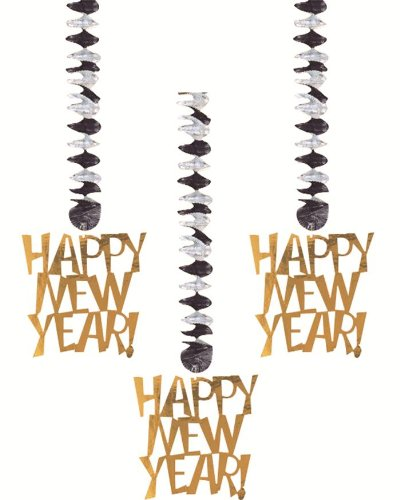 Dangling Cut Outs Happy New Year Party Dangling Cut Outs
