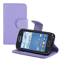 kwmobile Elegant synthetic leather case for the Samsung Galaxy Ace 2 with magnetic fastener and stand function in violet