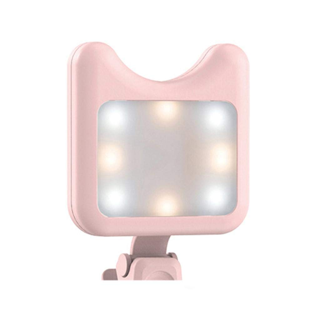 LED Selfie Flash Fill Light APEXEL APL-FL01 Portable Clip-on Rechargeable Fill Light for Mobile Phone Camera