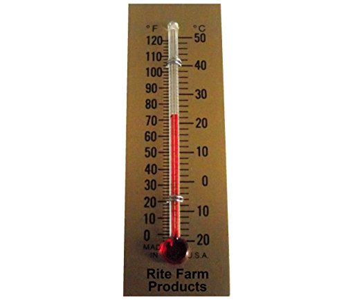 Incubator Thermometer (RITE FARM PRODUCTS GLASS TEMPERATURE THERMOMETER EGG INCUBATORS CHICKENS POULTRY)