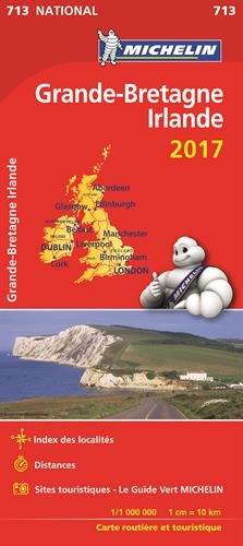Carte Bretagne Distance.Carte Nationale 713 Grande Bretagne Irlande 2017